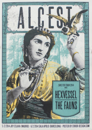 Xavi Forné, urban art gallery buy street art screenprint poster art of rock Alcest