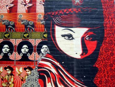 Shephard Fairey urban art siebdruck stancil buy