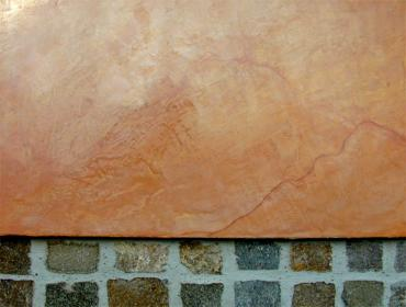 Steinimitation auf Kalkbasis